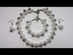 Transform a simple pearl jewelry set into elegant and beautiful wedding &bridal jewelry set - YouTube