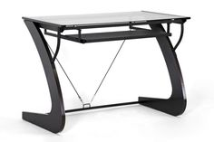 Baxton Studio Sculpten Dark Brown Modern Computer Desk