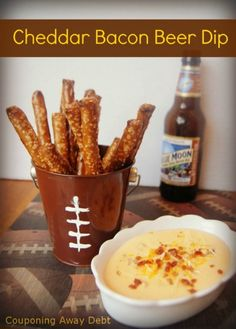 Here is a delicious appetizer for your Superbowl party that uses another game day favorite in the base---beer! This Bacon Beer Cheese Dip will go quickly off of your party table.