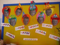 leuke verjaardagskalender met ballonnen