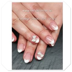 Gel with Bling  #nails #bling