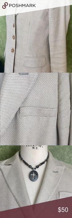Armani Exchange Tan & Cream Blazer Armani Exchange Tan & Cream Blazer. Size 10  Measurements coming soon! Armani Exchange Jackets & Coats Blazers