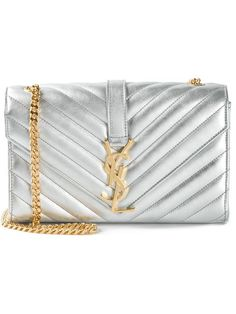 Einkaufen Saint Laurent Kleine 'Monogramme' Schultertasche in Stefania Mode from the world's best independent boutiques at farfetch.com. Over 1000 designers from 300 boutiques in one website. Yves Saint Laurent Tasche, First Website, Boutiques, Saints, Designers, Monogram, Back Stitch, Shopping, Chain