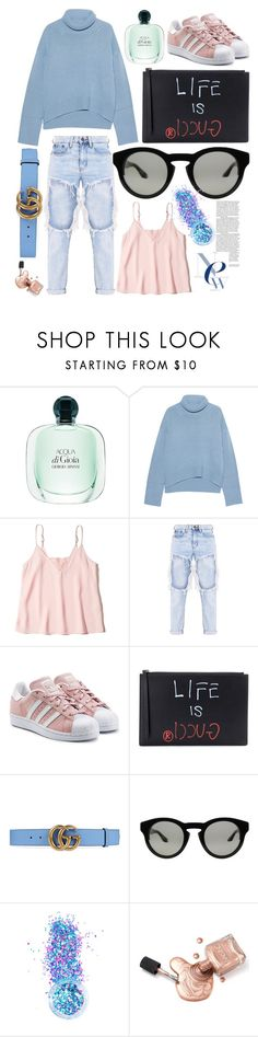 """""""feel the spring coming"""" by sugaplump ❤ liked on Polyvore featuring iHeart, Hollister Co., adidas Originals, Gucci, Givenchy and In Your Dreams"""