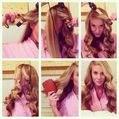 Step by Step #Tutorial: Section, wrap, cool-off, brush & spray #hair