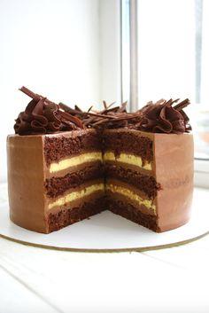 Baking Recipes, Cake Recipes, Russian Cakes, Torte Cake, Cupcakes, Cake Tutorial, Cooking Time, Food Photo, Chocolate Cake