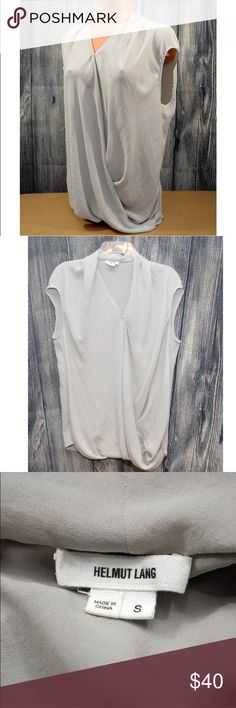 Helmut Lang Single Button Drape Sleeveless Top HELMUT LANG  Gray  Single button Drape Sleeveless Top   Size S Helmut Lang Tops Blouses