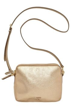 Fossil+'Sydney'+Metallic+Leather+Crossbody+Bag+available+at+#Nordstrom