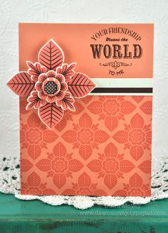 You Mean The World Card by Dawn McVey for Papertrey Ink (June 2012)