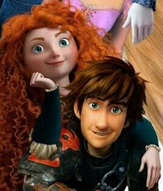 Merricup Merida from Brave and Hiccup from HTTYD2!