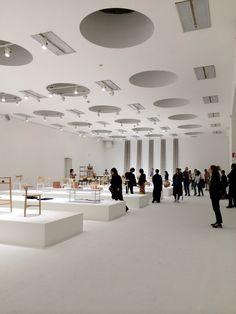 Upper level of the vast Nendo Works 2014-2015 retrospective