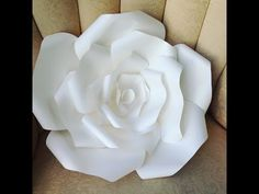 DIY LARGE Paper Rose - YouTube