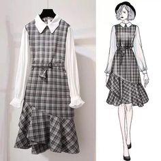 Korean fashion styles 493988652877358053 - Technical Drawings Source by nebihanakca Asian Fashion, Hijab Fashion, Girl Fashion, Fashion Dresses, Party Dresses For Women, Cute Dresses, Cute Outfits, Style Ulzzang, Mode Kpop