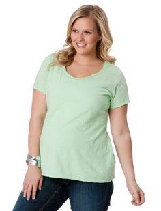 Motherhood Maternity: Plus Size Short Sleeve Scoop Neck Lightweight Maternity T Shirt Motherhood Maternity. $24.98