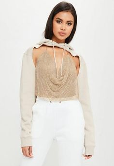 1ec2018583 Carli Bybel x Missguided Cream Extreme Cut Out Sweater