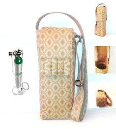 Portable Oxygen Tank Bag  a Handmade Designer Carrier by AmariJade