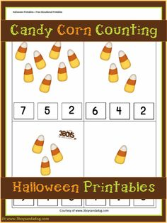 Free Halloween Printables: Candy Corn Counting