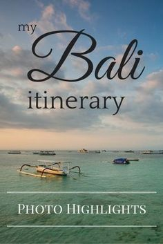 Bali itinerary photo highlights - Tracie Travels