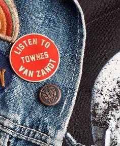 Listen to Townes Van Zandt Pin - Red