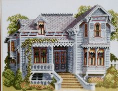 Debbie Patrick SANTA ROSA VICTORIAN House Victorians Across America - Counted Cross Stitch Pattern Chart