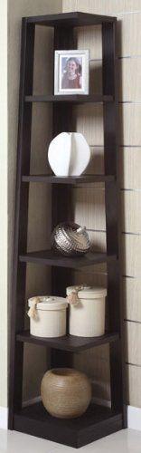Corner Black Bookshelf by Poundex Poundex http://www.amazon.com/dp/B0052YGTMC/ref=cm_sw_r_pi_dp_ko8Ytb04J15SHGP0