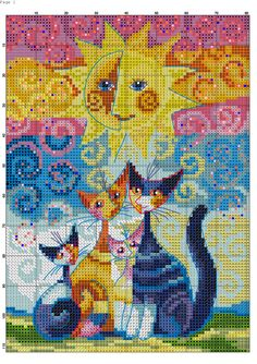 Photo Cat Cross Stitches, Counted Cross Stitch Kits, Cross Stitching, Cross Stitch Embroidery, Cross Stitch Designs, Cross Stitch Patterns, Mochila Crochet, Everything Cross Stitch, Graph Paper Art