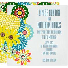 x Exotic Daisy Wedding Invitation - wedding invitations cards custom invitation card design marriage party Invitation Card Design, Wedding Invitation Templates, Custom Invitations, Wedding Invitations, Daisy Wedding, Wedding Sets, Wedding Templates, Exotic, Marriage