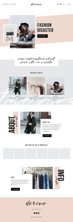 Shop our Premium Squarespace Templates and Themes so you can easily and quickly build and launch your new gorgeous website! Our designer Squarespace website templates give you all the tools so you can create a gorgeous & professional website. Web Design Trends, Web Design Grid, Modern Web Design, Web Design Tips, Brand Design, Design Ios, Website Layout, Web Layout, Layout Design