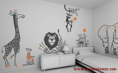 safari themed wall decoration sticker  Different Types Of Wall Decorations