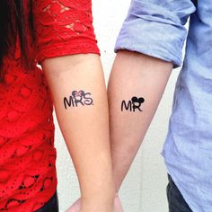 Love Disney? Going to Disneyland or Disneyworld for a honeymoon? Doesnt matter! Because these Mickey and Minnie themed temporary tattoos are perfect for