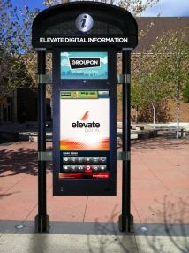 interactive kiosk - outdoor media. more effective or more clutter?
