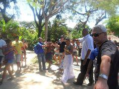 Beyoncé durante o passeio na região do Quadrado,em Trancoso. (Foto: André Freitas / AgNews)