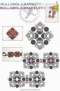 Ewa beaded World: Rullabola bracelet-1 sample / 1 Rullabola bracelet pattern