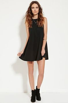 Round-Neck Trapeze Dress | Forever 21 - 2000186236