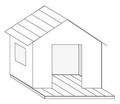 Créer une petite cabane de jardin en bois pour enfant, plan cabane enfant et explication de montage, menuiserie facile.