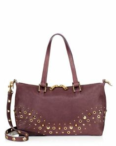Juicy Couture Bedford Leather Charlie Studded Satchel