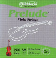 """D'Addario Prelude Viola Strings - Set, 13-14, Mixed/Steel, Medium, Ball by D'Addario. $19.49. Made of a steel core, D'Addario Prelude strings are durable and economical. Available for viola in short scale (under 15""""), medium scale (15""""-16""""), and long scale (16"""" and over). Made in U.S.A.   Tone: Bright without being shrill"""