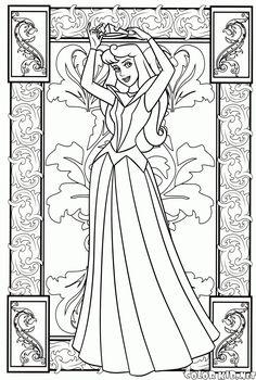 ぬりえ - Portrait of a Princess Adult Coloring Book Pages, Printable Adult Coloring Pages, Colouring Pages, Coloring Pages For Kids, Coloring Books, Disney Princess Coloring Pages, Disney Princess Colors, Disney Colors, Sleeping Beauty Coloring Pages