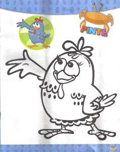 ESPAÇO EDUCAR: Desenhos para colorir e atividades da Galinha Pintadinha, pintinho amarelinho e borboletinha!
