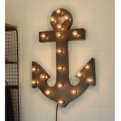 """Shine brighter with our Lighted Anchor Marquee Sign! Each of our Light Up Marquee Symbols are great for weddings, restaurants, bars, events, home decor, or even photo/set props. - Dimensions: 28"""" Tall #restaurantdesign"""