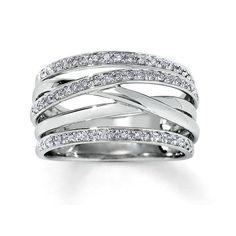 White gold rings - white gold ring Women's ring Statement Ring Ring for women Wide gold ring Unique gold ring Multiband ring Gold rings for women – White gold rings Diamond Jewelry, Jewelry Rings, Fine Jewelry, Gold Jewelry, The Bling Ring, White Gold Rings, Black Gold, Beautiful Rings, Jewelry Stores
