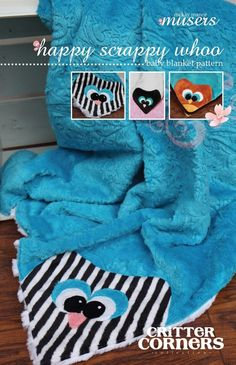 HAPPY SCRAPPY WHOO CRITTER CORNER QUILT PATTERN, From McKay Manor Musers NEW #McKayManorMusers