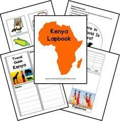 Free Africa study Lapbooks. Egypt, Ghana, Morocco, Kenya...