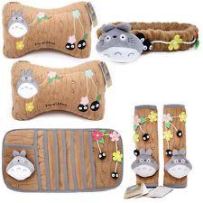 Totoro 6pc Auto Accessories Neck Cushion Seat Belt Pad CD Visor Mirror Cover Set