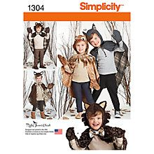 Buy Simplicity Children's Woodland Dressing-Up Costumes Sewing Patters, 1304 Online at johnlewis.com