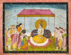 Krishna in Durbar. Unknown year. Kangra.