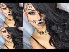 sexy Leopard Halloween Makeup - YouTube