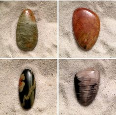 Stone cabochons from Lake Michigan and beyond.