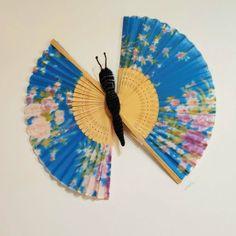 Butterfly Art, Fans, Wall Decor, Decor Ideas, Cool Stuff, Simple, Crafts, Diy, Beautiful