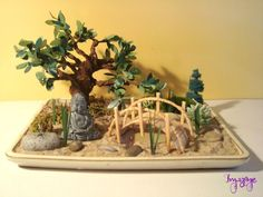 Un mini jardin cactuseros cute a southwest fairy garden for Jardin zen miniature